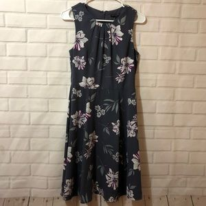 Banana Republic Purple Floral Sleeveless Dress